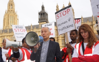 Frank Field Human Trafficking March