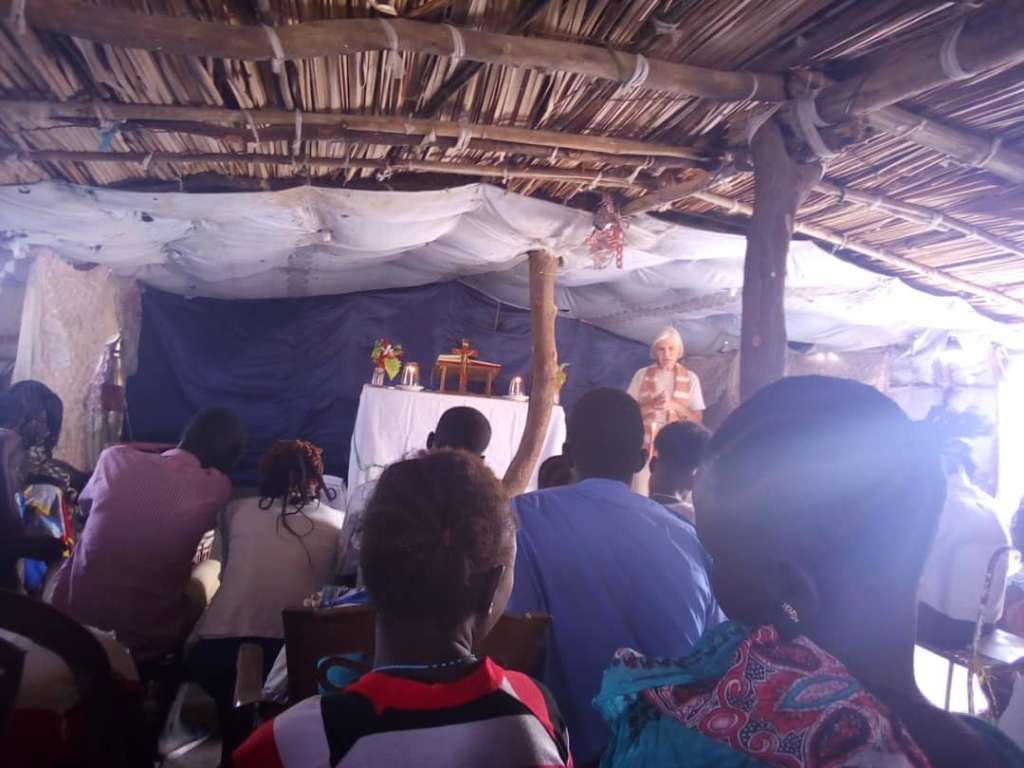 Sr Dorinda Cunha leading a christian community in South Sudan