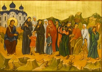 The women journeying towards the heavenly Jerusalem